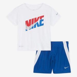 Nike Dri-fit active performance shorts set
